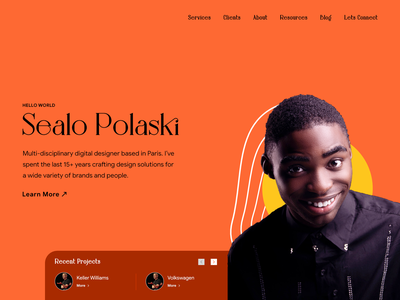 Portfolio 2 portrait trend branding studio fashion hero banner visualdesign visualdesigner portfolio landing page typography chennai minimal colors