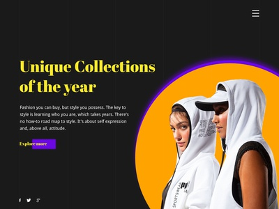 Fashion Collection Website