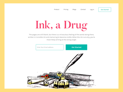 Landing Page For Ink Lovers
