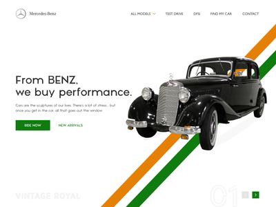 Mercedes  Landing Page Design