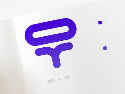 OT creativity identity t o personal brand lettre type design branding logo