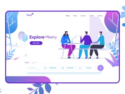 Case #6 : Meety UI - Design