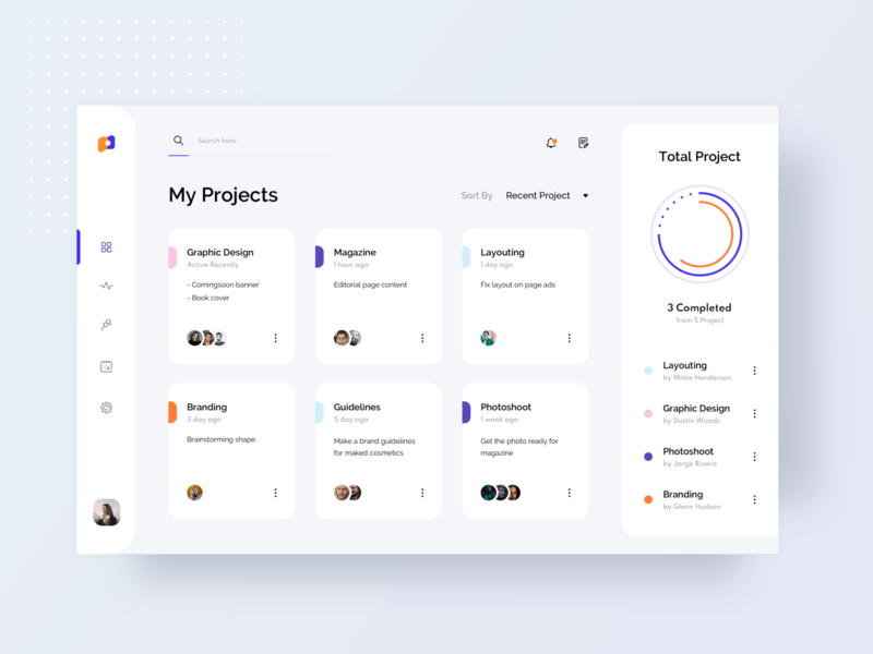 Exploration - Project Management minimalist design tab manager task management project web website exploration sketch minimalist design app ui