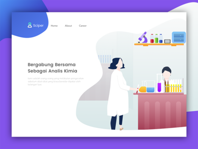 Sciper Chemical Analyst Landing Page by Miranti - Dribbble