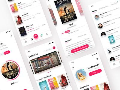 Gubooks design author ui mobile exploration simple minimalist iphonex profile books app book