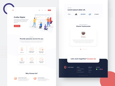 Crafter Digital - Landing Page Agency agency illustration website ui landing page sketch