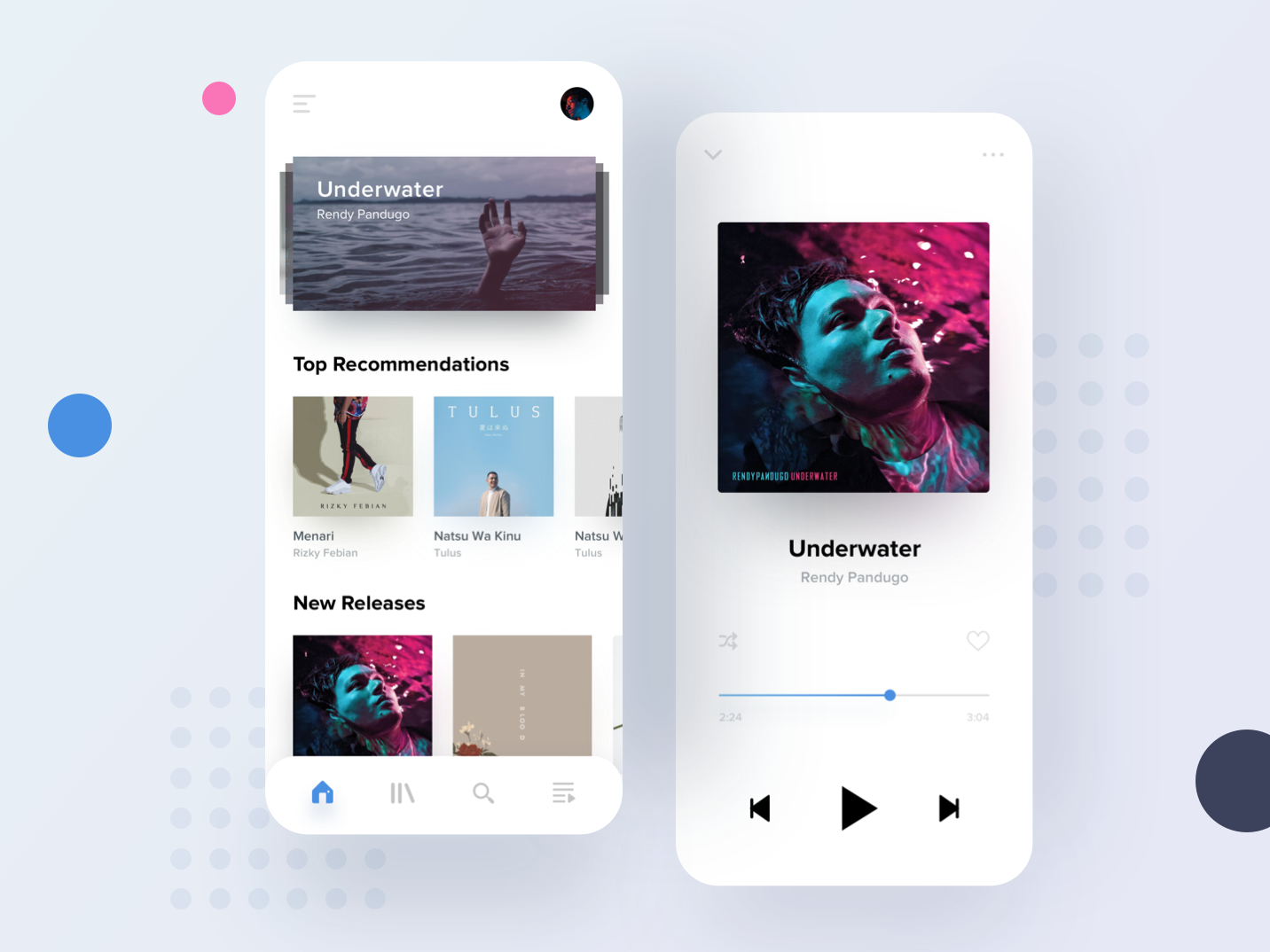 Musec - Mobile Version minimalist music music player iphone mobile ui app sketch