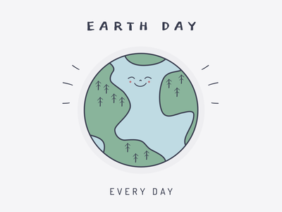 Earth day every day vector illustraion climate change happy hug love care environment planet earth planet earth earthday