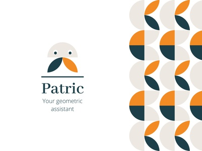 Patric repeat pattern art muted rebound visual identity ui design ui branding brand logo pattern design pattern assistant virtual assistant geometric design geometric art geometic