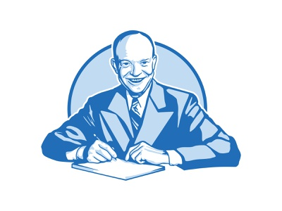 Eisenhower - vector illustration vector art shadow blue illustration vector eisenhower