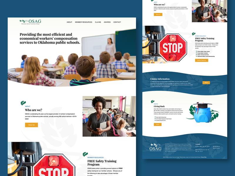 OSAG - web design green blue web design clean website design web public school