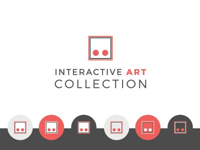 Interactive Art Collection - Logo & Branding circle square gray red collection original nintendo power video game interactive art vector illustration branding clean logo design