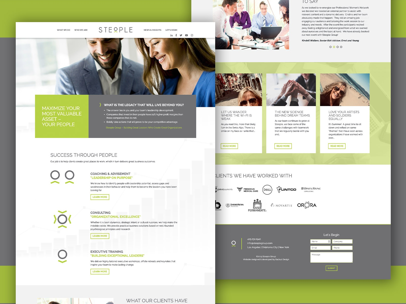 Steople - Web Design by Adrian Townsend on Dribbble