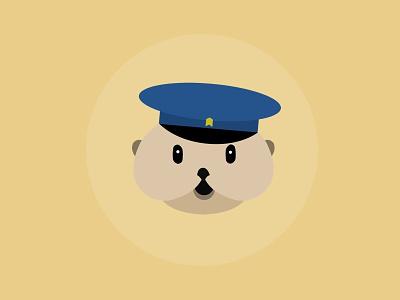 Say hi to Trevor the Otter mail yellow flat trevor otter