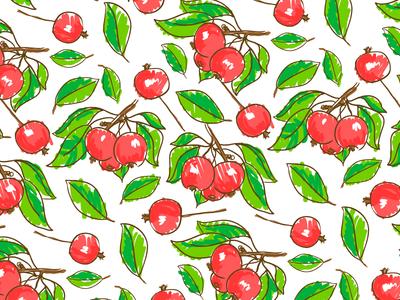 Apple Pattern sketch apple pattern