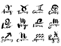 The Strange Calligraphy. Zodiac signs
