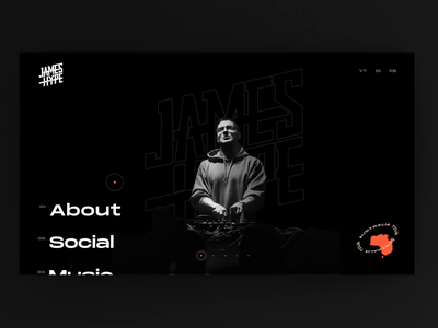 James Hype | DJ Concept idea motion design james hype dj logo website dj landing page
