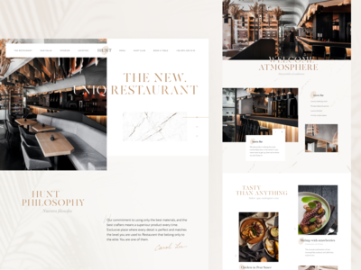 HUNT | Restaurant Landing Page