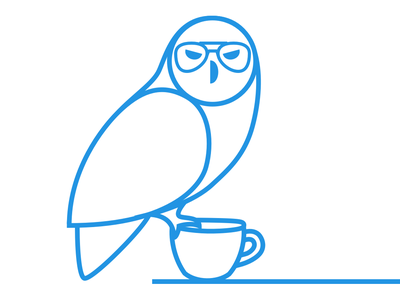 Owl Joe coffee owl design logo vector illustration