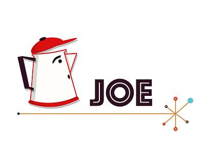 Retro Joe branding design logo coffee pot percolator coffee vintage retro vector illustration