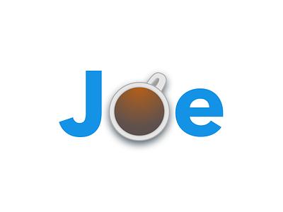 Joe. avenir next design coffee vector logo illustration