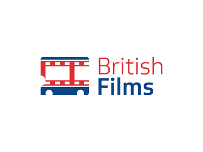British Films  england cinema camera film tape movie double-decker bus negative space logo films british