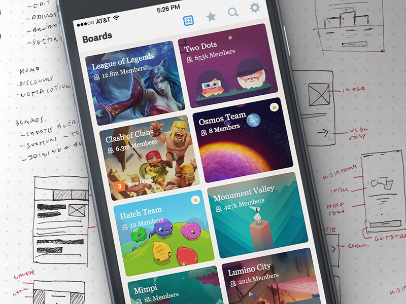 Littleboards - Boards View forums forum ios user interface user experience ui ux mobile apple