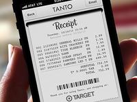 Receipt for Tanto App