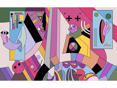 Under the surface surreal minimal characterdesign dreams digital illustration illustration