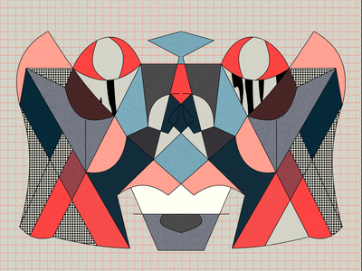"""Máscara"" clip studio paint surreal minimal lineart design digital illustration illustration"