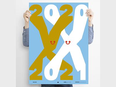 """Hello 2021"" 2021 poster art poster characterdesign minimal digital illustration illustration"