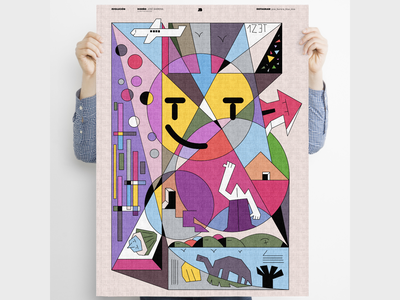 """Evolution"" fun poster art poster surreal characterdesign dreams minimal digital illustration lineart illustration"