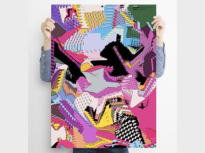 """Orden"" Poster series glitch art glitchart glitchy glitch minimal surreal digital illustration poster design poster art poster"
