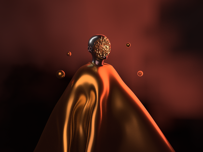 Suspended - Render #80 arnold render renders maxon michael rappaz abstract concept art gold arnold aesthetic neon arnoldrender cinema 4d c4d design 100days everyday render 3d