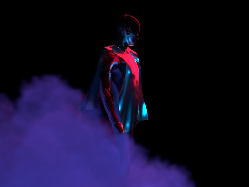 You're Mine - Render #88 fog smoke cloud abstract concept c4dart michael rappaz maxon arnold aesthetic neon arnoldrender cinema 4d c4d design 100days everyday render 3d