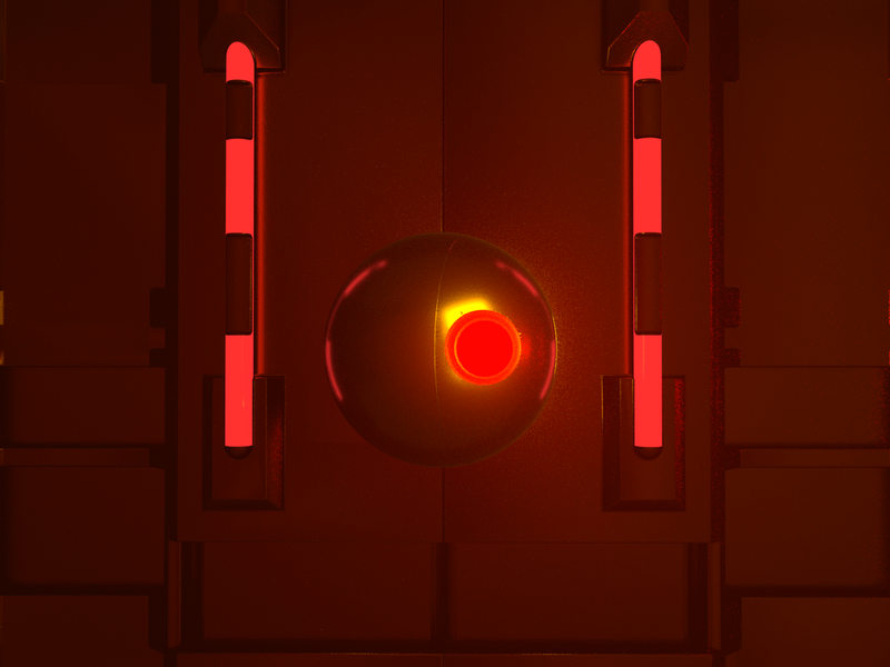 Power Surge - Render #94 michael rappaz redesign concept spaceship red gold space odyssey spacedchallenge space aesthetic neon arnoldrender cinema 4d c4d design 100days everyday render 3d