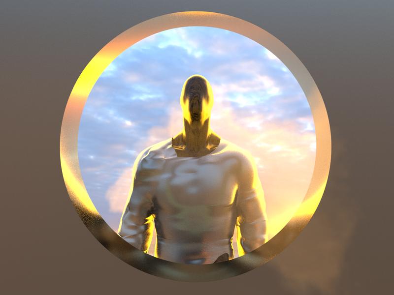 Imma head out - Render #100 gold arnold renderer michael rappaz concept artist abstract art arnold render final render arnold aesthetic neon arnoldrender cinema 4d c4d design 100days everyday render 3d