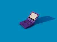Gameboy Advance SP - Render #32