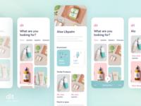 Dit Cosm-ethics makeup cosmetic minimal flat illustration concept ux ui ios android design app design app