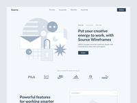 Source Wireframe Kit ui kit website design ui interface website animation web design