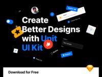 Unit – Free UI Kit design system website web free ui design interface web design