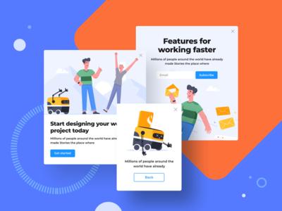 Stories Illustration Kit
