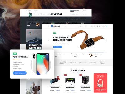 Universal UI Kit clean ecommerce design ux template ui kit sketch ui web design interface