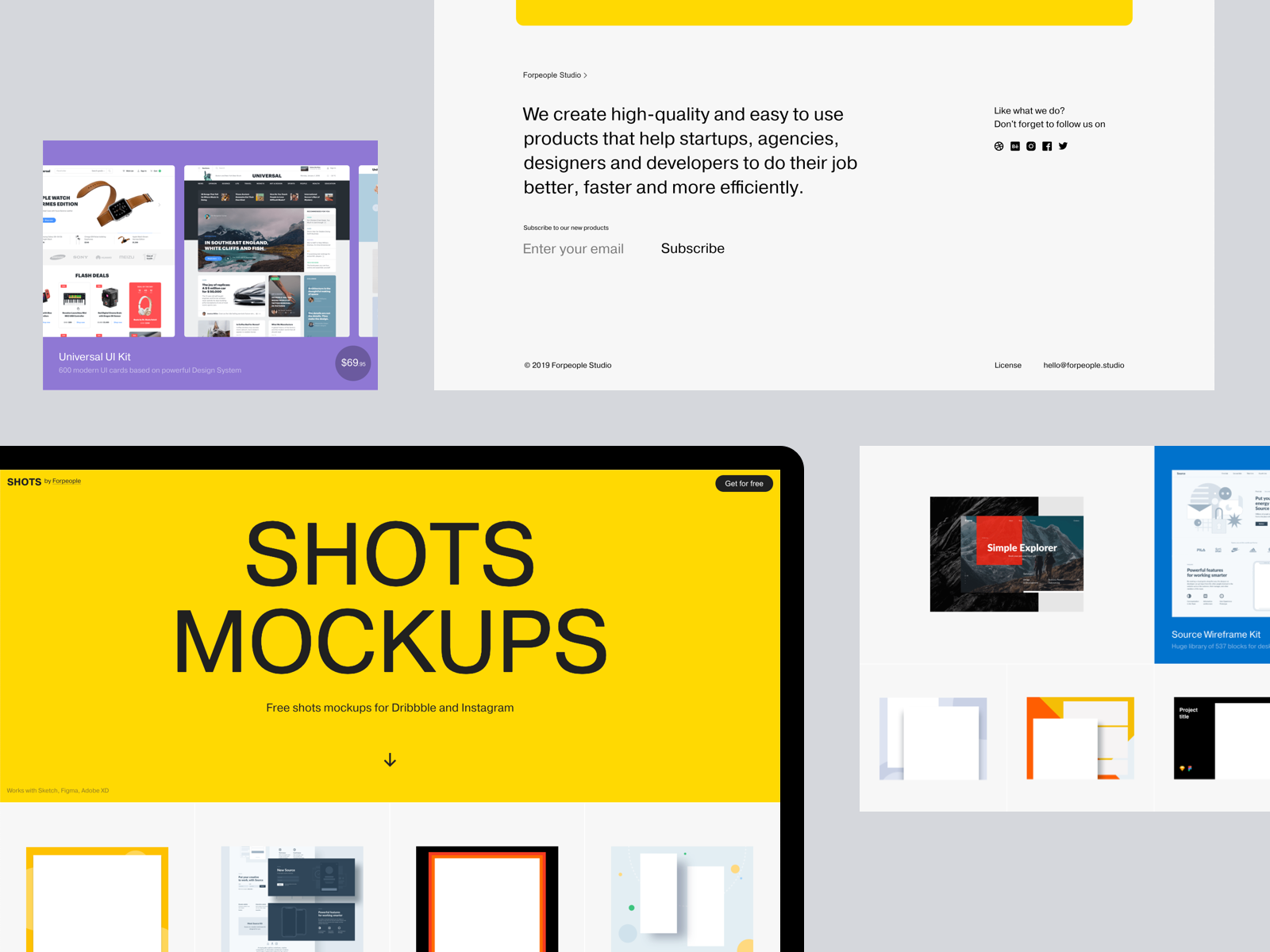 Free Shots Mockups for Dribbble and Instagram by Max