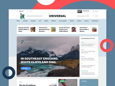 Sample page of the Universal UI Kit ux website design clean design ui web design website web