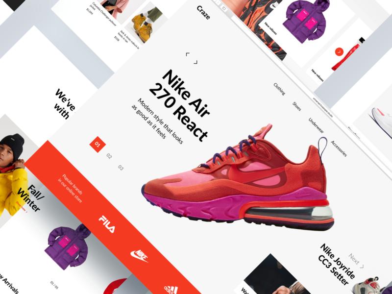 Craze Layouts webdesign interface web design web website design ui