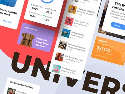 Universal UI Cards webdesign web interface ui web design