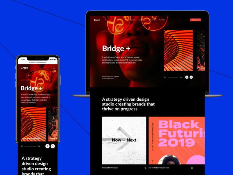Agency Web Page Based on Source Wireframes website webdesign web minimal ui interface design web design
