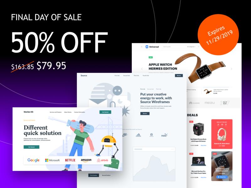 Black Friday 50% OFF website webdesign web minimal interface ui design