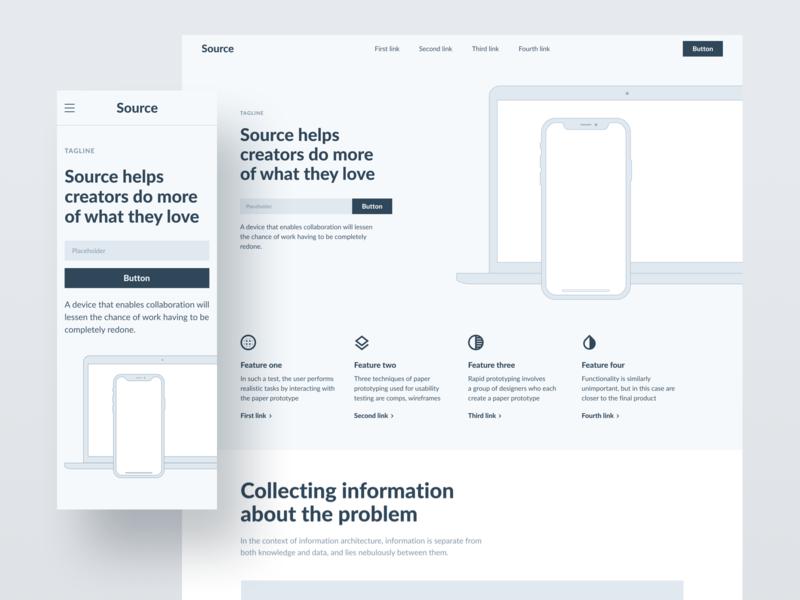 Source Wireframes webdesign website web design interface web design ui